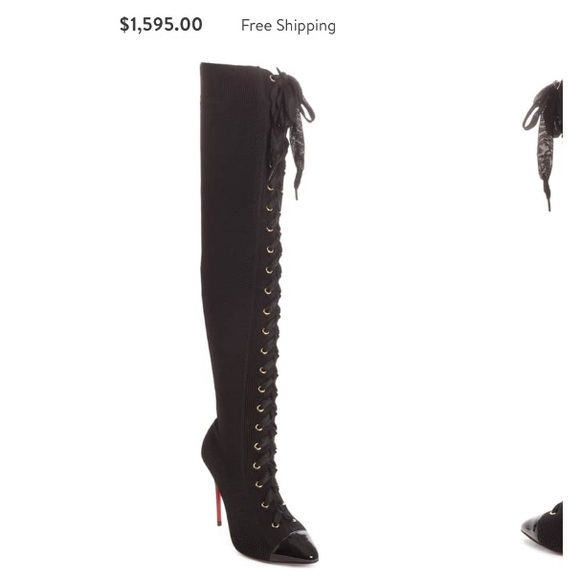 promo code 2f49a ab891 Christian louboutin Frenchie lace up boot NWT